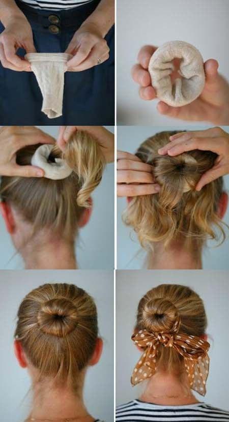 Прическа как сделать валик