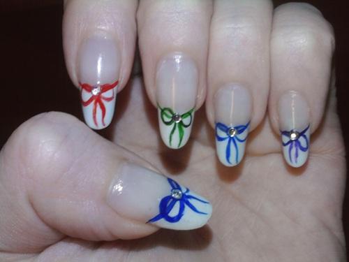 Пошаговые фото рисунка на ногтях