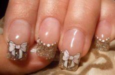 Бантик на ногтях, пошаговая инструкция создания