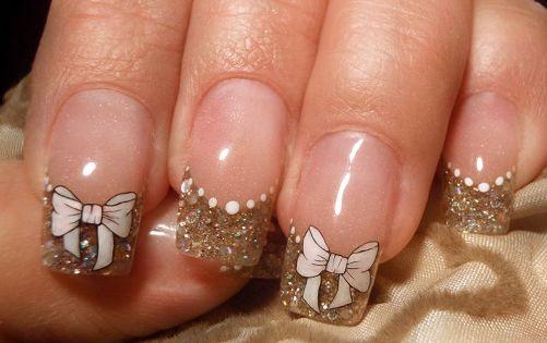 Бантики на ногтях пошагово и дизайн акрилом Смокинг 76