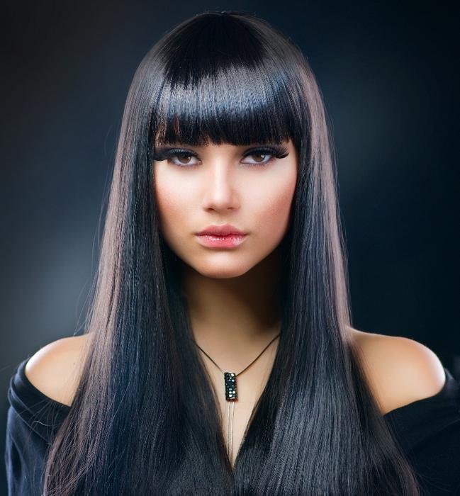 черный цвет волос фото иссиня