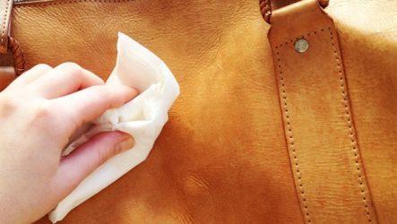 Как почистить светлую кожаную сумку?