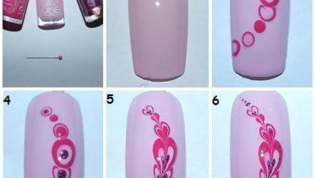 Рисунки на ногтях лаком — пошаговая инструкция
